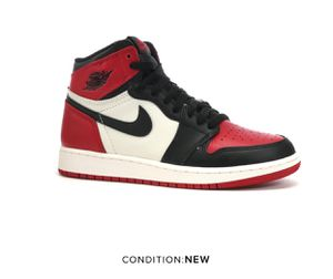 Nike Air Jordan 1 Retro Bred Toe GS size 4.5Y for Sale in San Francisco, CA