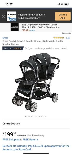 Gently used Graco Ready2Grow XL Double Stroller, $100.00 for Sale in Tacoma, WA