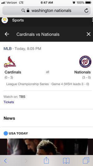 Nats NLCS Game 4 tickets for Sale in Rockville, MD