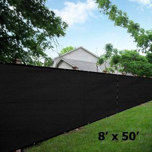 NEW 8'x50' Privacy Fence Wind Screen - BLACK for Sale in Ontario, CA