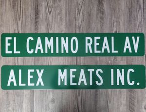 Custom authentic street sign,Mexico,meat,sports,police, firefighter, military, marines,car club, memorabilia, toys, tools, electronics, kitchen, cars for Sale in Berwyn, IL