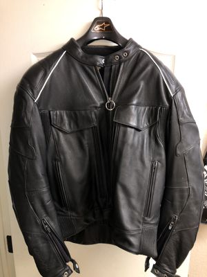 First Gear Leather Motorcycle Jacket for Sale in Fresno, CA