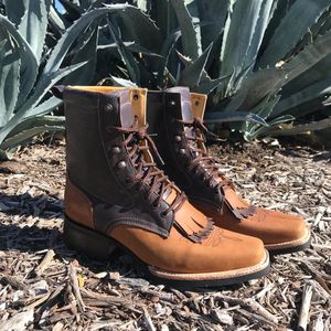 Lace Up Rodeo! Work Sole - 100% Leather - Román Boots! Delivery Service Included!! for Sale in San Antonio, TX