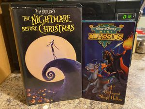 Disney's nightmare before Christmas and the legend of sleepy hollow VHS for Sale in Hialeah, FL