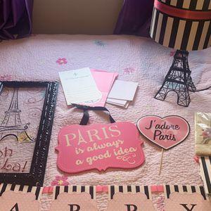 Paris Decor And Birthday Decor for Sale in Puyallup, WA