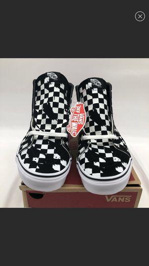 Vans overprint checkerboard sk8-hi size 10.5 Men's Shoes Sneakers for Sale in South El Monte, CA