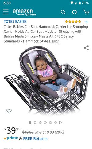 Totes Baby Car Seat Hammock for Sale in Gilroy, CA