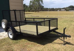 Nice Solid 6x10 Utility Trailer Like New for Sale in Lakeland, FL