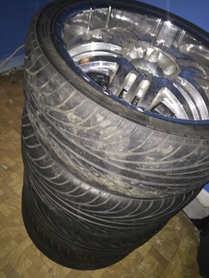 Truck Tires w Custom Rims Shiny for Sale in Alexandria, VA