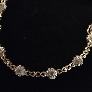 Gold/925 Cz Green Stone Flower Bracelet for Sale in Glen Burnie, MD