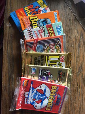 7 unopened packs of 1988-92 baseball cards for Sale in Sumner, WA