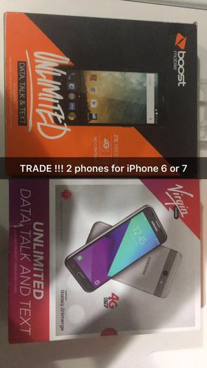 TRADE !!! 2 new smart phones for iPhone (T-Mobile or unlocked) for Sale in Salt Lake City, UT