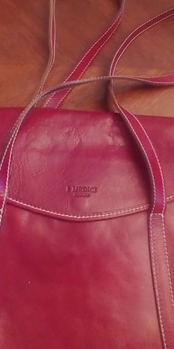 I Medici Firenze Large Red Leather Purse for Sale in Georgetown,  TX