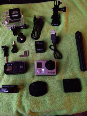 GO PRO HERO 3 + WITH REMOTE, TRIPOD,CASE,CHARGER for Sale in Fullerton, CA