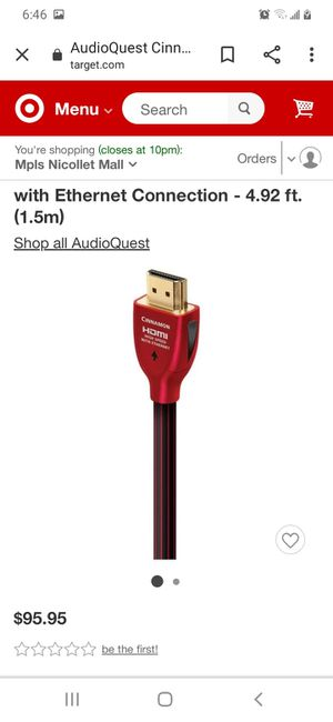 12' Audioquest HDMI cable for Sale in Minneapolis, MN