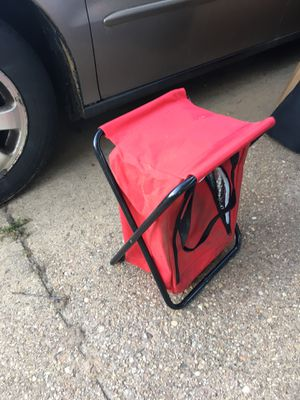 Fold up fishing chair with storage only 20 firm for Sale in Hanover, MD