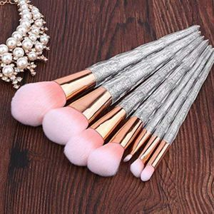 silver diamond shape glitter 7 pcs cute professional makeup brushes for Sale in Los Angeles, CA