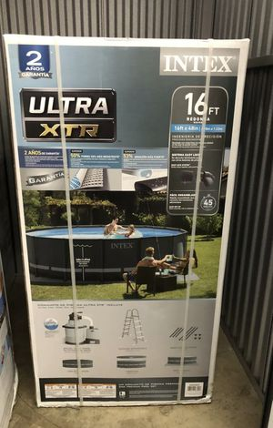 Intex 26325EH 16Ft x 48In Ultra XTR Frame Above Ground Swimming Pool Set w/ Pump for Sale in Portland, OR
