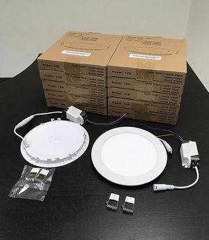 """(New in box) $65 (set of 10pcs) Round 6"""" LED Recessed Ceiling Light 9W Lighting Fixture Lamp for Sale in Whittier, CA"""