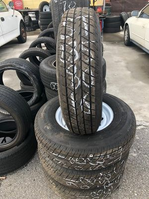 Set of 16 trailer rims with tires for Sale in Orlando, FL