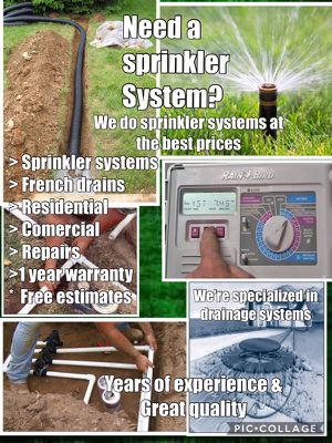 Sprinkler systems & Drainage systems for Sale in Houston, TX
