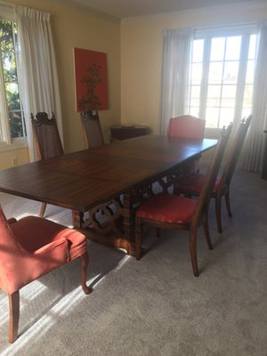 Antique dining room table with 6 chairs. for Sale in Fairfax, VA