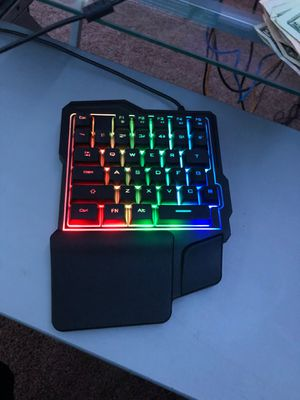 Half gaming keyboard with led lights for Sale in Auburn, WA