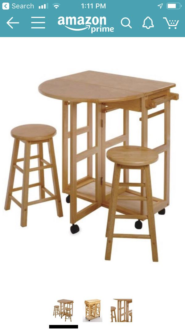 Foldable Table Kitchen cart or breakfast bar