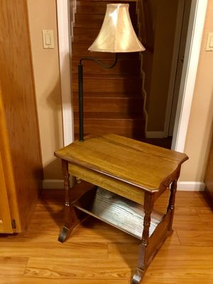 """Solid Wood Magazine Storage Table Lamp 54"""" x 26"""" x 17"""" for Sale in Turlock, CA"""