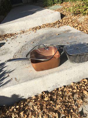 Copper Chef pot w/ deep frying basket for Sale in Las Vegas, NV