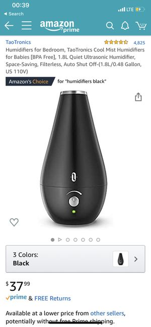 Humidifier for bedroom for dry air~cool air~brand new for Sale in San Jose, CA