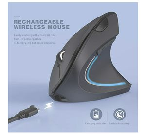 Wireless Ergonomic Mouse, Jelly Comb Rechargeable 2.4G Bluetooth Vertical Mouse Switch to 3 Devices Optical Mice with 6 Buttons 3 Adjustable for Sale in Fontana, CA