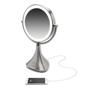 iHome 1X/7X Portable Double-Sided 9-Inch Vanity Mirror with Bluetooth Speaker for Sale in Gainesville, FL