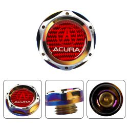 BRAND NEW ACURA BURNT BLUE ENGINE OIL CAP REAL CARBON FIBER EMBLEM ACURA for Sale in City of Industry,  CA