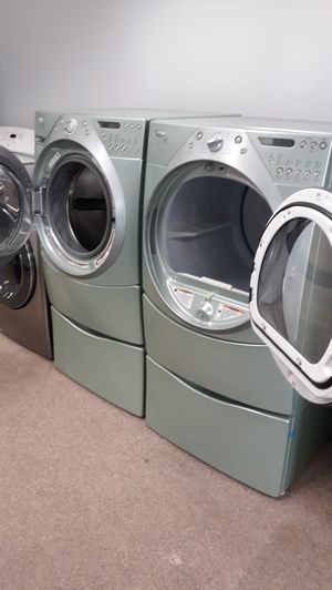 Whirlpool front load washer and dryer set excellent condition for Sale in Laurel, MD