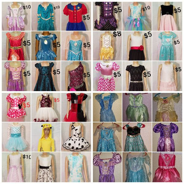 DISNEY Rapunzel Girls Sz. 4-6 dance costume fancy pageant dress up ballet princess Halloween
