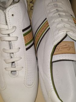 AUTHENTIC LOUIS VUITTON LEATHER SNEAKERS/ SIZE 10.5 for Sale in Atlanta,  GA