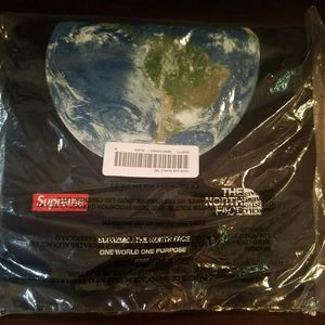 Supreme Black One World Tee for Sale in Pittsburgh, PA