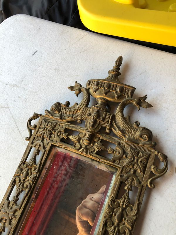 Victorian Candle Sconce Mirrors Fish Motif deco