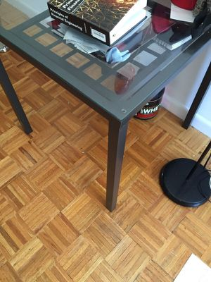 2 metal Tables and 4 chairs...available near wall street, manhattan. open to offers.... for Sale in New York, NY