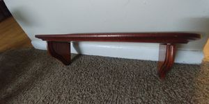 SMALL WOODEN SHELF WITH HOOKS for Sale in Wichita, KS