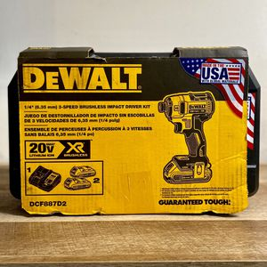 DeWalt Impact Driver Dcf887 3 Speed With Two Batteries And Charger In Case for Sale in Houston, TX