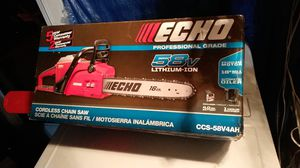 Echo 16in cordless chain saw for Sale in Medford, MA