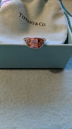 Return To Tiffany Silver Oval Signet Ring for Sale in McKeesport, PA