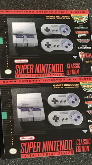 If your interested,Brand new never opened min super Nintendo's 95 each for Sale in Daly City, CA