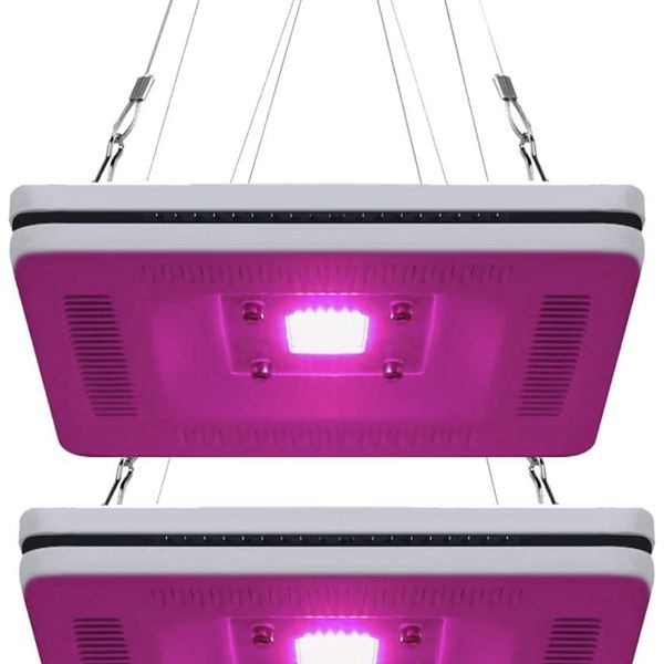NEW! 2-Pack Professional Full Spectrum LED Grow Light, Total 600W HPS & CFL Grow Lights Equivalent, Best Panel Plant Grow Light for Indoor Plants in G