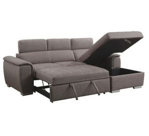 Storage sectional with pull out sleeper for Sale in Fullerton, CA