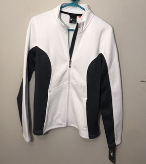 White SPYDER zip up jacket NWT Size Medium for Sale in Solon, OH
