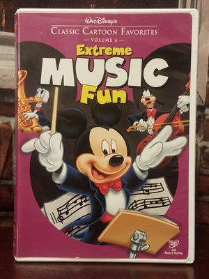 Walt Disney Classic Cartoon Favorites Vol. 6 Extreme Music Fun Mickey Mouse DVD for Sale in Tampa, FL