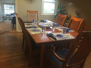 Mission style Dining Room table with six chairs. for Sale in Silver Spring, MD